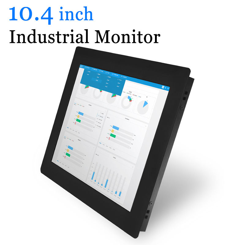 10.4 Clip On Metal Cash Industrial Computer Monitor USB Touch Screen Monitor-in LCD Monitors from Computer & Office