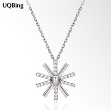 Drop Shipping 925 Sterling Silver Chain Necklaces Flower Pendants&Necklaces Jewelry Collar Colar de Plata