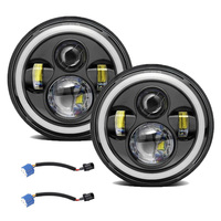 7 inch Led Headlight universal motorcycle Headlamp led moto front light bulbs headlight for car ATV SUV scooter motorbike lights