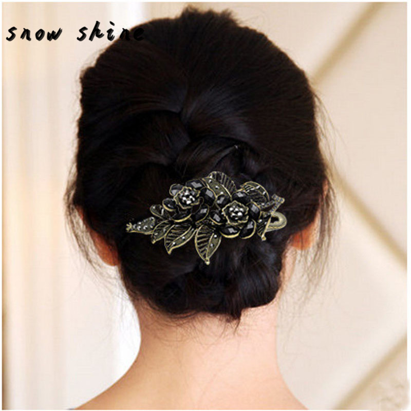 snowshine #3002   New Vintage Rose Hair Clips Hairpins Hair Clip Beauty Tools Jewelry FREE SHIPPING *cydj