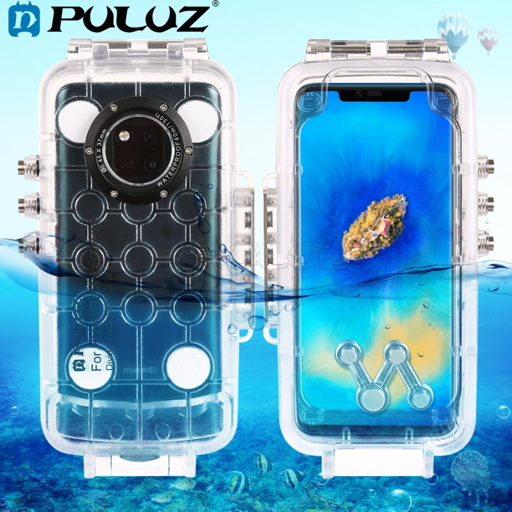 PULUZ 40m 130ft Underwater Waterproof Diving Housing Photo Video Taking Underwater Cover Phone Case for Huawei