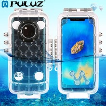 PULUZ 40m/130ft Underwater Waterproof Diving Housing Photo Video Taking Underwater Cover Phone Case for Huawei Mate 20 Pro