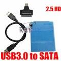 Alta Calidad USB 3.0 a Sata Unidad de Disco Duro de 2.5 pulgadas Hdd Caso de La Cubierta de 480 Mbps de Datos Cable
