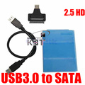 High Quality USB 3.0 to Sata Hard Disk Drive 2.5 inch HDD Enclosure Housing Cover Case 480Mbps with Data Cable