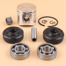 38mm Piston Ring Crank Ball Bearing Oil Seals Kit Fit HUSQVARNA 36 136 136LE 137 137e Chainsaw Engine Parts