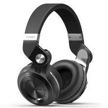 Original Bluedio T2 + auriculares estéreo Bluetooth inalámbrico Bluetooth 4.1 auriculares con Micrófono y Radio FM Tarjeta SD funciones Auricular