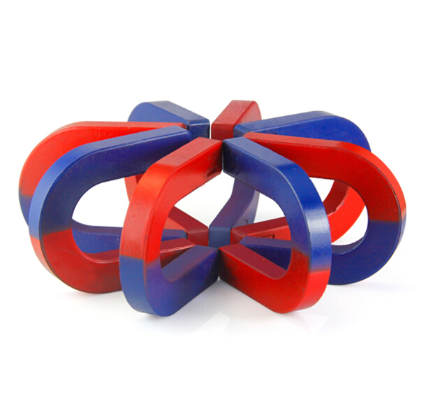 2-20 pieces Magnetic Teaching Tool Magnet Bar type magnet 61x53x28x12 mm blue red Toy magnet educational magnet bar 80 meter plastic soft magnet for advertising teaching frige magnet width 15xthickness 6 mm for notice board toy magnet