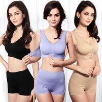 Kadın ön düğme sutyen seti sutyen kadın külot setleri 4 renkler kız sutyen setleri iç çamaşırı kadın ropa İç mujer