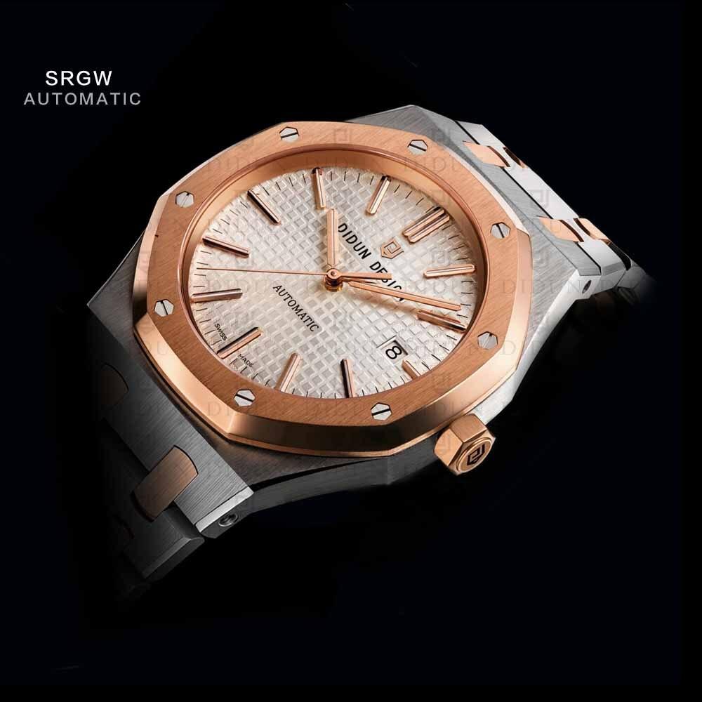 DIDUN Mens Watches Top Brand Luxury Automatic Mechanical Watch Men Full Steel Business Waterproof Sport Watches Waterproof цена