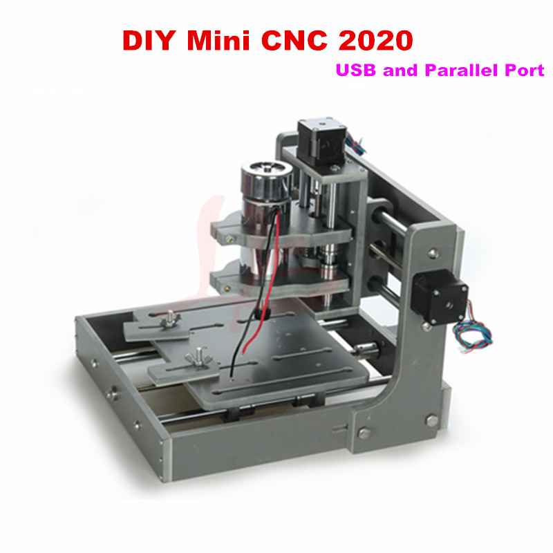 DIY CNC router 2020 2 in 1 with usb port and parallel port ,smallest working area mini cnc milling machine eur free tax cnc 6040z frame of engraving and milling machine for diy cnc router