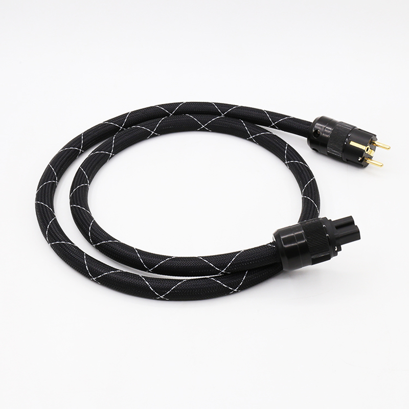 OEM Audio X DIY SAOF8N 5N Copper SCHUKO Power Cable EUR power plug hifi  power cord cable for DVD CD AMP