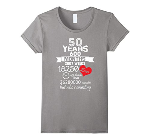 anniversary gift 50th 50 years wedding marriage ideas female t shirt