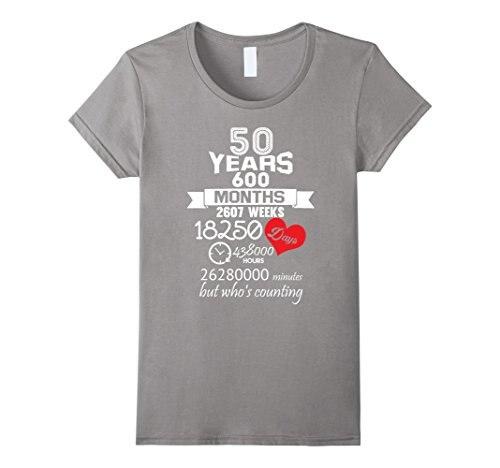 Us 13 04 13 Di Sconto Regalo Di Anniversario 50th 50 Anni Idee Matrimonio Matrimonio Femminile T Shirt Kawaii Punk Top Tee Della Novità Di Modo Tee