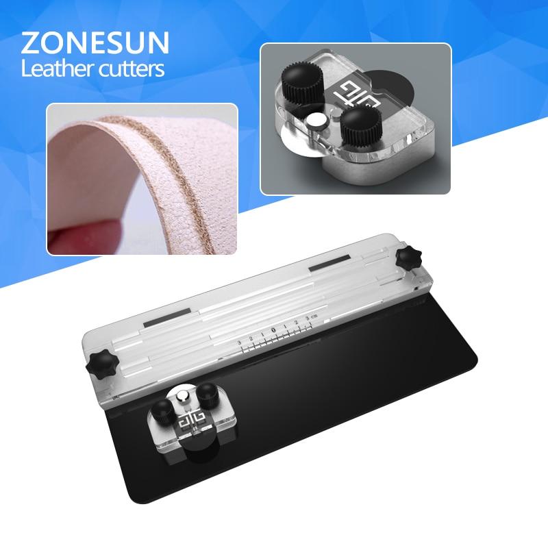 ZONESUN Leather Segment Cutting Device Leather Edge Cutter Section Cutting tool cutting edge elementary workbook