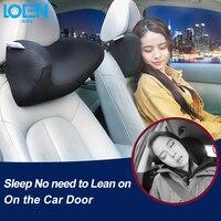 LOEN U Shape Memory Foam Car Travel Pillow Neck Pillows To Ease Fatigue Black Blue Red