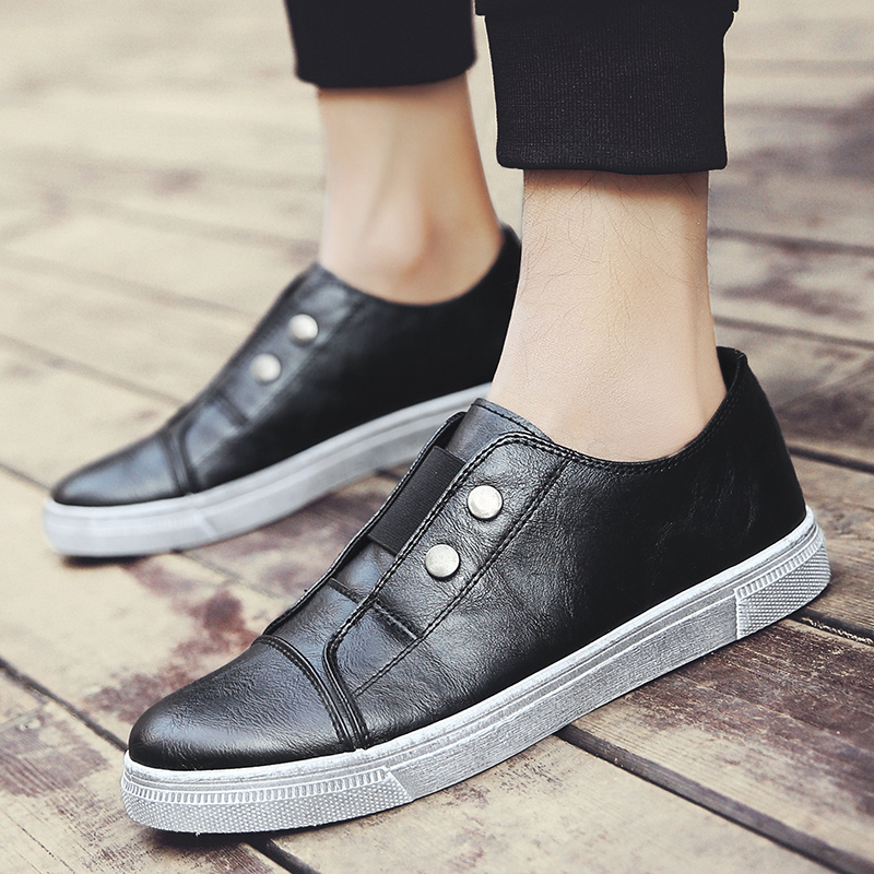 ФОТО In the spring of 2017 new men's casual shoes retro trend shoes set foot shoes British youth lazy men's shoes