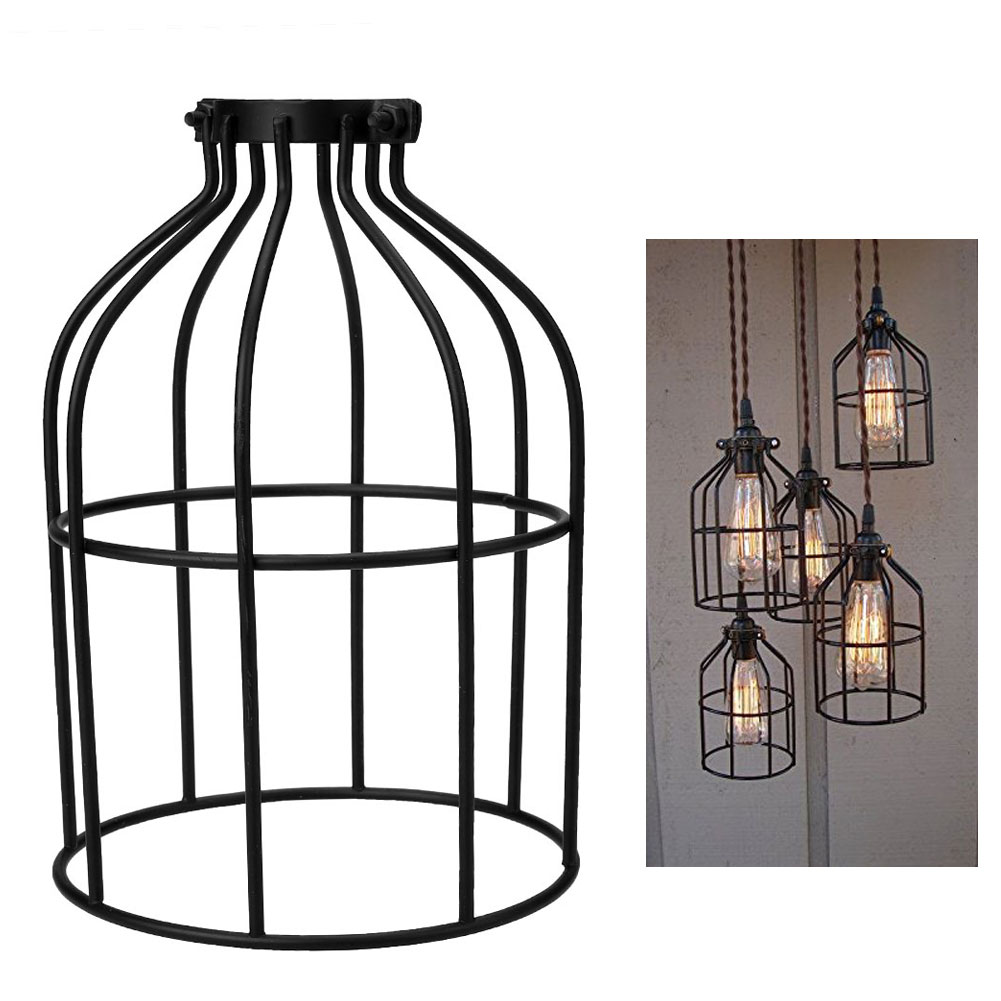 4 color metal lighting hanging guard for string light lamp holder 4 color metal lighting hanging guard for string light lamp holder wire iron cage home dining hall study drop shipping in lamp covers shades from lights arubaitofo Gallery