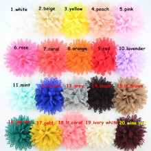Yundfly 50PCS 4 Boutique Cotton Solid Ballerina Lace Flower For Girl Hair Accessories Artificial Fabric Flowers Decorations