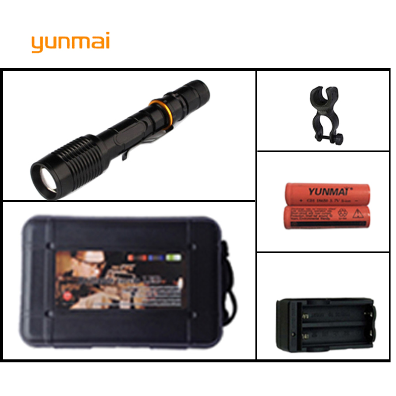 Potente xml-t6 xm-l2 U2 linterna LED linterna táctica impermeable flash Light bike Pocket LED antorcha para Caza bicicleta