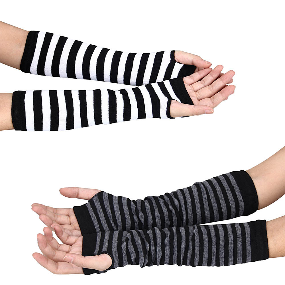 MUQGEW New Arrival Fashion Knitted Arm Warmer Sleeve Winter Wrist Hand Knitted Long Fingerless Durable Gloves Mittens