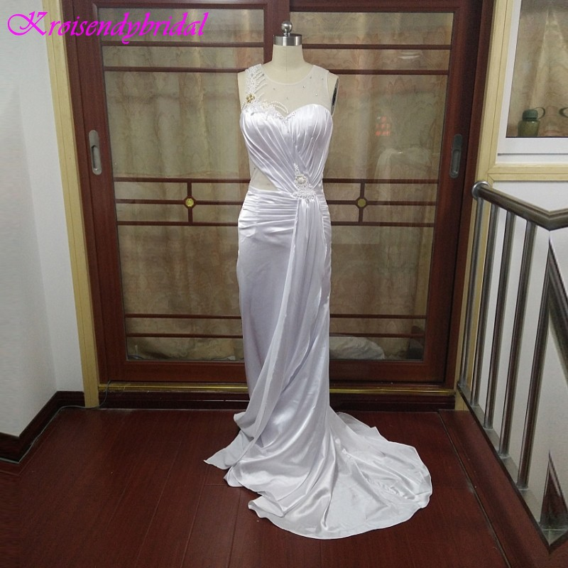 ZGS274 Real Sample Actual Photos Long Mermaid Evening Gowns China Popular Pearls Beaded Luxury Mermaid Long Prom Dresses 2017