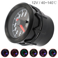 52MM 2 Inch Dual Display 12V Universal Car Motor Water Temperature Gauge Water Temp Meter 7 Color Backlight with Sensor