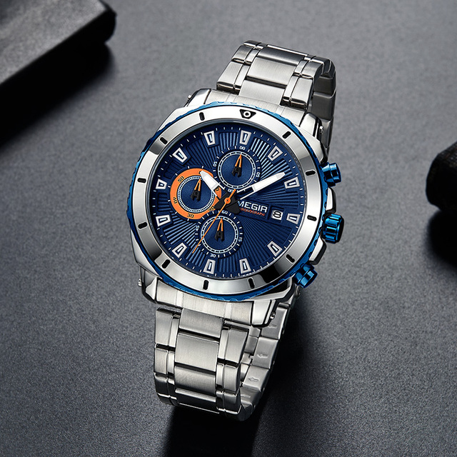 Mens Chronograph Quartz Luxury Watch