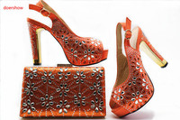doershow Italian Shoe with Matching Bags Shoe and Bag Set for Party In Women Italian Matching Shoe and Bag Set stones SHX1 12