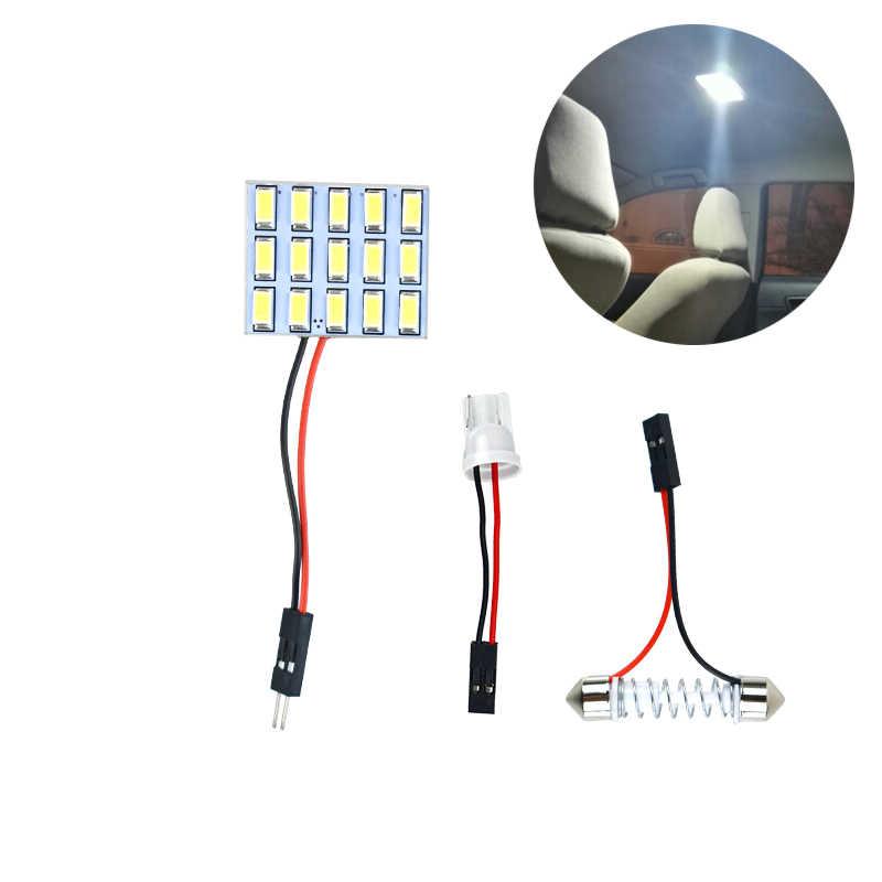 DIY LED Dome Harita Işık Ampul LED PANEL AYDINLATMA Iç LED ampuller arabalar Sticker bmw x5 e53 passat b6 ford odak mk2 koltuk