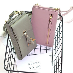 Image 3 - Universal Multifunction Women Wallet PU Leather Phone Bag Case For iPhone Samsung Xiaomi Huawei Credit Cards Slot Crossbody Bag