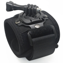 360 degree Rotation Wrist Mount Hand Strap with screw for Gopro hero 3+ 2 SJ4000 Xiaomi Yi action Cameras GP128 accessories