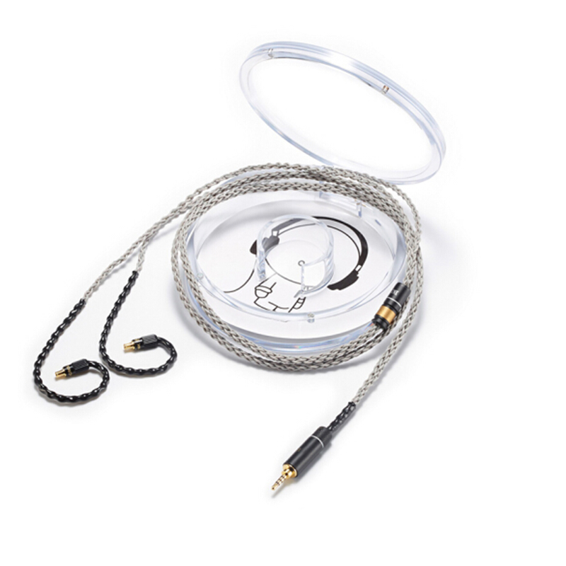OKCSC A2DC Earphone Upgade Cable for ath cks1100 LS200 LS70 LS50 E40 E50 Single Crystal Copper 2 5mm 4 4mm Balanced Plug 3 5mm in Earphone Accessories from Consumer Electronics