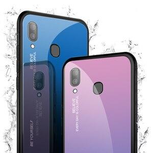 Image 4 - Samsung Galaxy A20E A20S A20 degrade temperli cam Samsung kılıfı Samsung A20 E r E r E r E r E r E r E r E r E r E r A 20e A20e Aurora renkli arka kapak