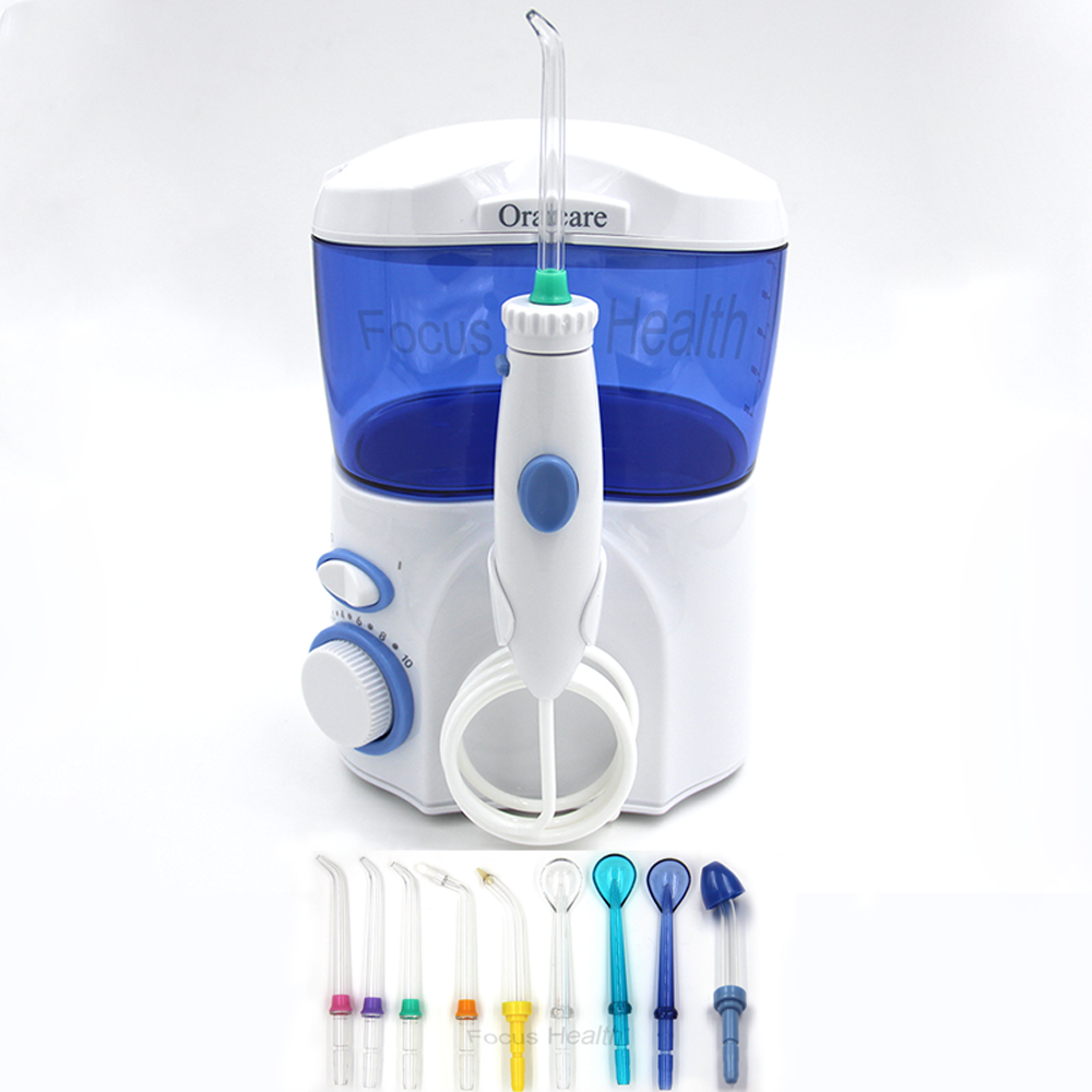 9 Tips Low Noise Oral Irrigator Water Jet Flosser Dental Spa Tooth Power Floss Teeth Cleaning Gums Health Oral Hygiene Nose Care convenient dental water floss oral irrigator dental spa water cleaner tooth flosser cleaning oral gum dental care jet