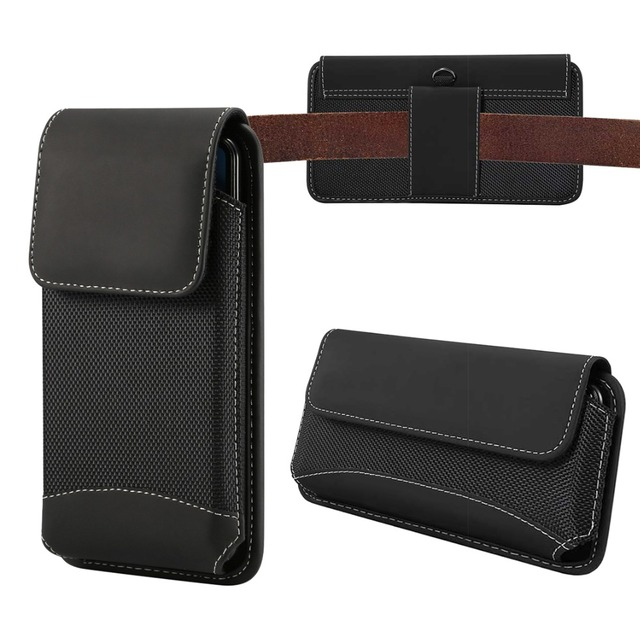 Universal Pouch Holster Case Rugged nylon belt loop clip Fits For SAMSUNG For iphone cover case for OnePlus 6 5T 6T XS MAX Nokia