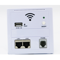 AP Router 150 Mbps Indoor Wall Embedded Wireless WiFi Router repeater 3G 5V 2A USB Charger socket panel with Switch LAN/RJ11/USB