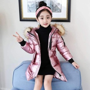 Image 4 -  30 Children Winter jacket Clothes Girl Warm waterproof Coat Hooded long down cotton Coats For Kids Outerwear parka clothing