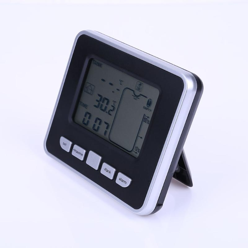 Ultrasonic Tank Liquid Level Meter Digital Water Box High Sensitivity With Indoor Temperature Monitor Liquid Temperature Display excellent design liquid injection kits as compressor protector to regulate lubricant oil temperature free from high temperature