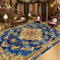 Vinyl Flooring Tile Custom European Style Marble Carpet Pattern 3d Floor Tiles Self Adhesive Wallpaper Vinyl