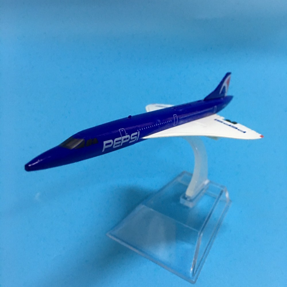 JASON TUTU Aircraft Model 1:400 Diecast Metal 16cm Plane Model Airplane Model Pepsi Concord Airlines Airplanes Plane Toys image