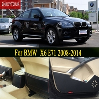 Car Pads Front Rear Door Seat Anti Kick Mat Car Styling Accessories For BMW X6 E71