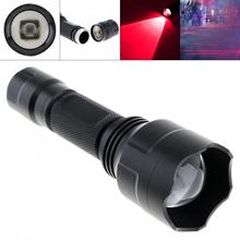 LED Flashlight Waterproof Focusing C8 850nm IR 38mm Len OSLON Zoomable Infrared Light Night Vision Flashlight Torch for Camera