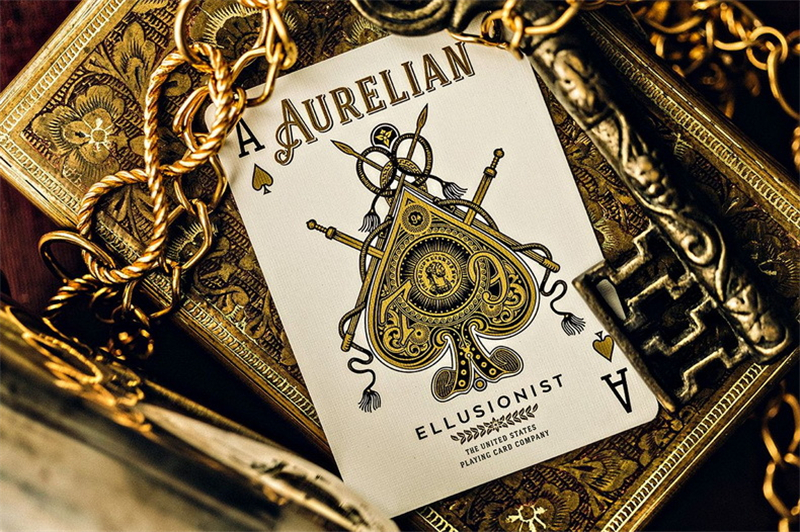 1 Deck Bicycle Ellusionist Aurelian US Playing Cards Magic Poker New SEALED Magic Tricks 81405