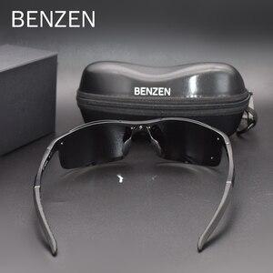 Image 4 - Benzen Gepolariseerde Zonnebril Voor Mannen Kwaliteit Al Mg Sport Zonnebril Mannelijke Uv Bescherming Outdoor Driver Glazen Goggles 9333