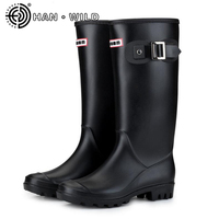 PVC Women Rain Boots Girls Ladies Rubber Shoes Casual Rainy Shoes Walking Outdoor Knee High Waterproof Female Low Heel Shoes