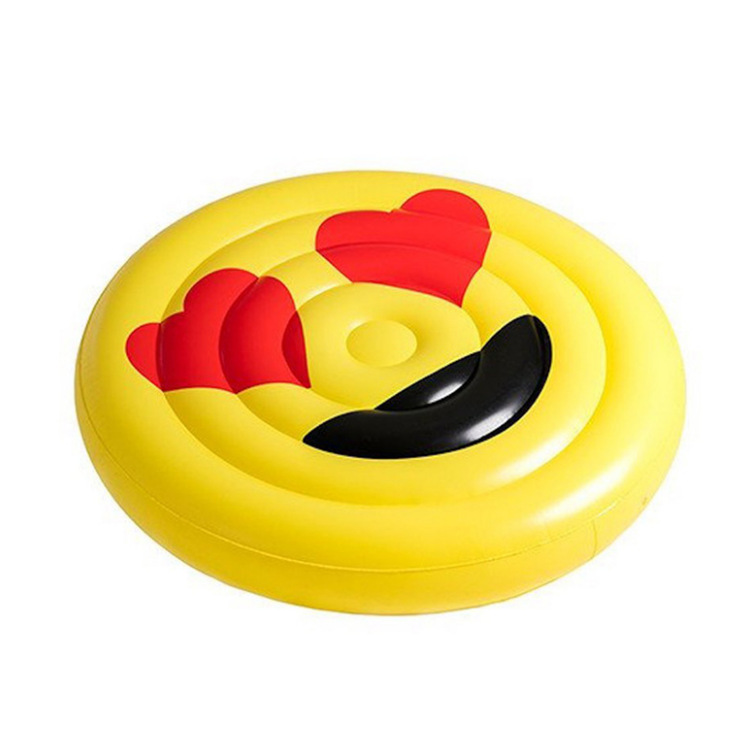 Anneau de natation géant LOL Emoji piscine flotteur lunettes de soleil émoticône gonflable natation large Cool pour piscine fête transat Boia Piscina