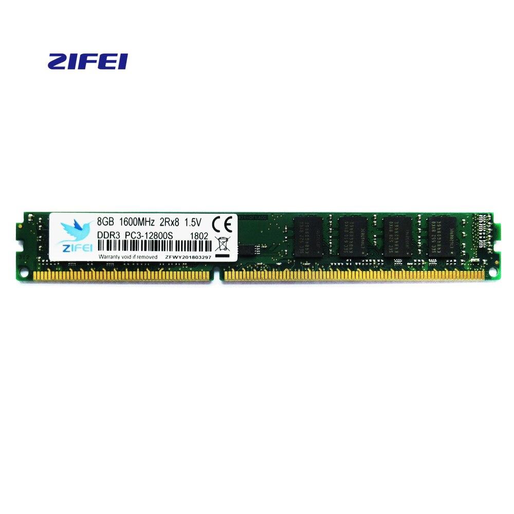 ZIFEI Ram ddr3 so dimm to dimm 2g1333 4g 8gb 1600Mhz ddr 3 8g1600 PC3-12800 Memoria 240pin for All Desktop