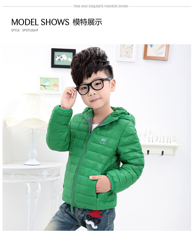 Kids children boys winter jacket 2016 new winter thick cotton children's clothing boys hooded coat HR mark age from 2-8T