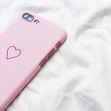 Love Heart Painted Graphic Phone Case For iphone 5 5S 6 6S 7 8 Plus X