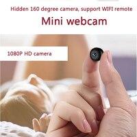 2018 новые 1080 P HD 160 градусов широкоугольные Мини камеры веб камера Поддержка wifi сети ночного видения удаленный монитор для телефона